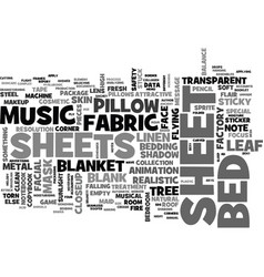 Sheet word cloud concept vector