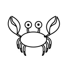 Sketch contour crab aquatic animal icon vector