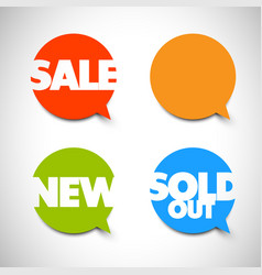 Speech bubble pointers for sale new sold items vector