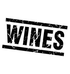 Square grunge black wines stamp vector