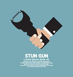 Stun gun a personal security weapon vector
