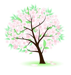 stylized tree vector image vector image