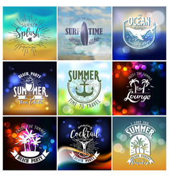 Summer designs on tropical beach night life vector