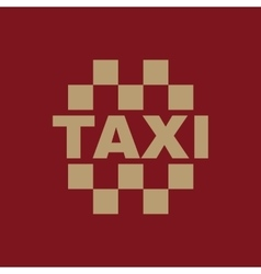 The taxi icon cab and taxicab symbol flat vector