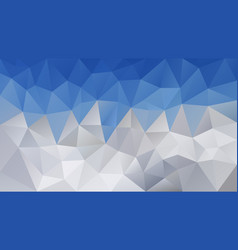 triangular polygonal background sky blue mountains vector image