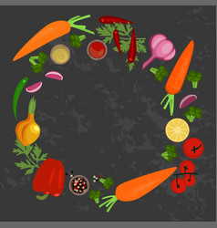 Vegetables and ingredients vector