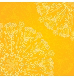 Vintage ethnic ornament orange background vector image vector image