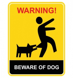 warning beware of dog vector image