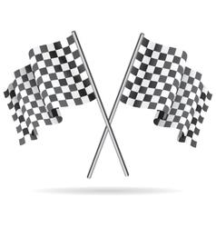 Waving Checkered racing flag vector image vector image