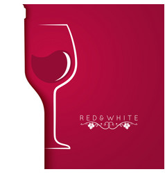 Wine glass logo menu design background vector