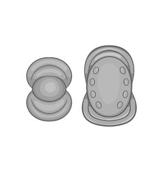 Knee protector and elbow pad icon vector