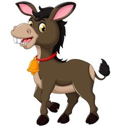 cute donkey cartoon walking vector image