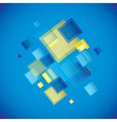 Blue square vector image