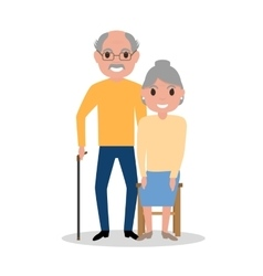Elderly couple grandparents aged people vector
