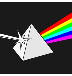 Prism and ray of light vector