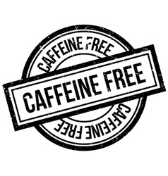 Caffeine free rubber stamp vector