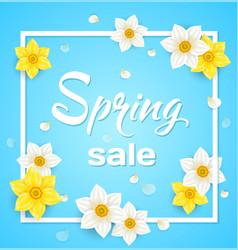 Spring blue background vector