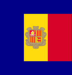 National flag of andorra country vector