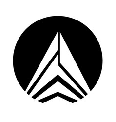 Mountain peak emblem icon vector