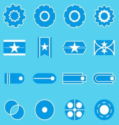 Create banner blue color icons vector