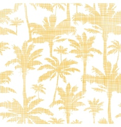 Palm trees golden textile seamless pattern vector