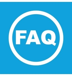 Faq sign icon vector