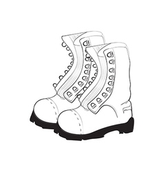 Hand drawn doodle boots vector