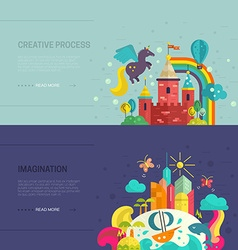 Imagination banners vector