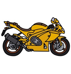 Yellow motorbike vector