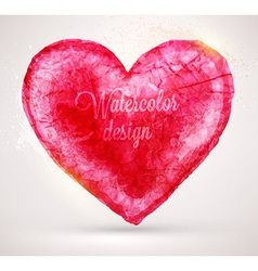 Watercolor love heart vector