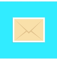 Envelope icon sticker isolated on blue background vector