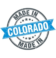 Made in colorado blue round vintage stamp vector