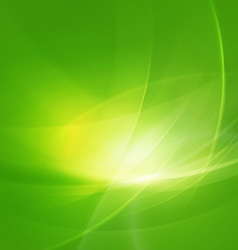 abstract shiny green twist light lines waves vector image vector image
