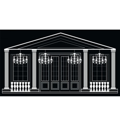 architectural facade vector image vector image