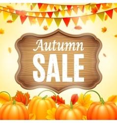 Autumn Sale Anouncement vector image vector image