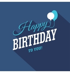Blue Birthday Card vector image