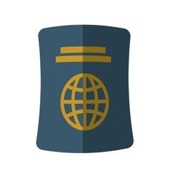 Blue passport identification tourist shadow vector