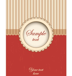 Card template design vector image vector image