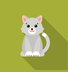 Cat flat icon for web and mobile vector
