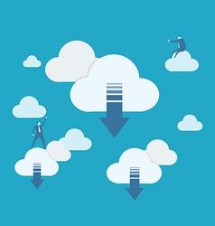 Cloud computing download vector image