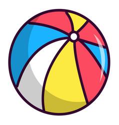 Colorful circus ball icon cartoon style vector