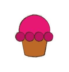 cupcake dessert sweet vector image