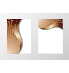 Flyer template wave design vector