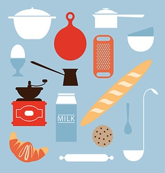Food and kitchen objects vector