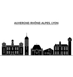 France auvergne rhone alpes lyon architecture vector