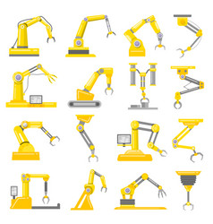 mechanical arm set vector image