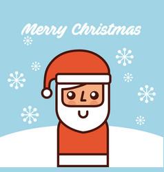 merry christmas santa claus standing snow vector image