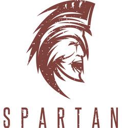 old vintage antiques spartan warrior grunge vector image vector image