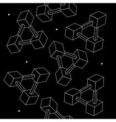 Pattern geometric seamless simple monochrome vector