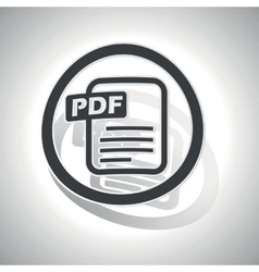 Pdf document sign sticker curved vector